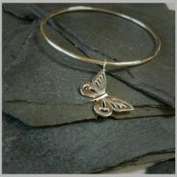 Butterfly hanging bangle