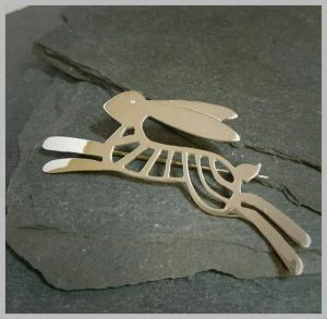Leaping Hare Brooch