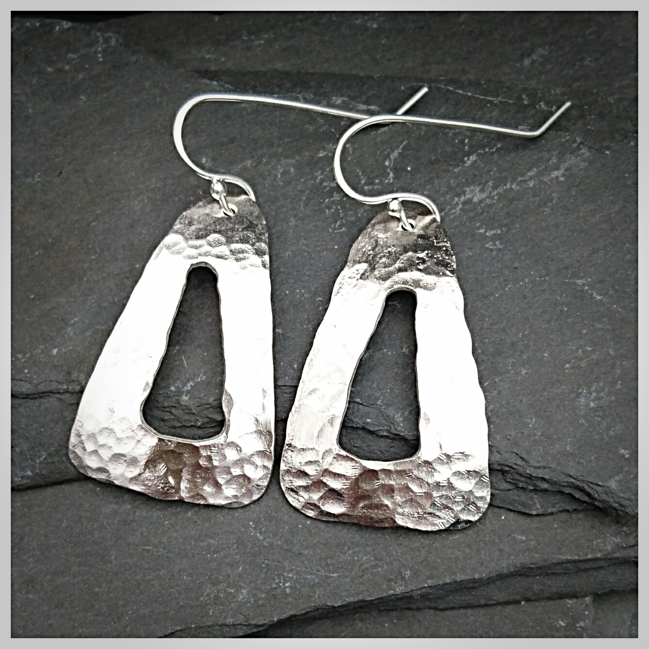 hammered earrings