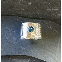 topaz embossed ring