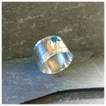 embossed silver ring