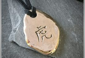 Gold Chinese Pendant