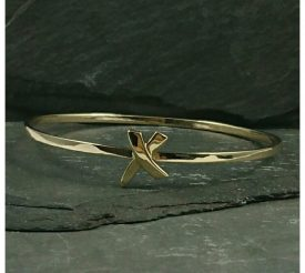 Recycled gold bangle